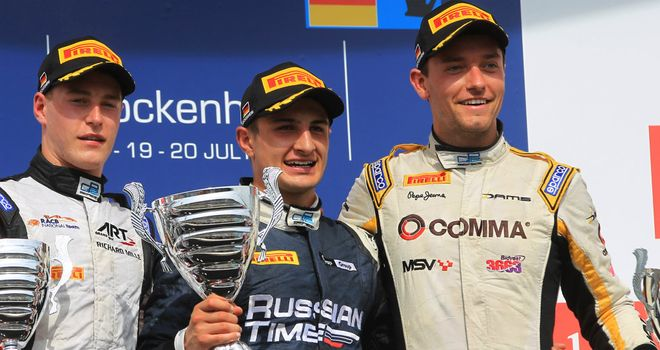 Jolyon Palmer finished third in the Hockenheim feature race