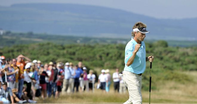 Bernhard Langer: German shot a third round of 68 to extend his lead to eight shots