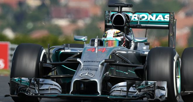 Lewis Hamilton during Practice in Hungary