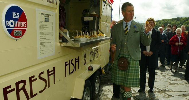 Prince Charles was left wishing he was having one of Shinners' dinners.