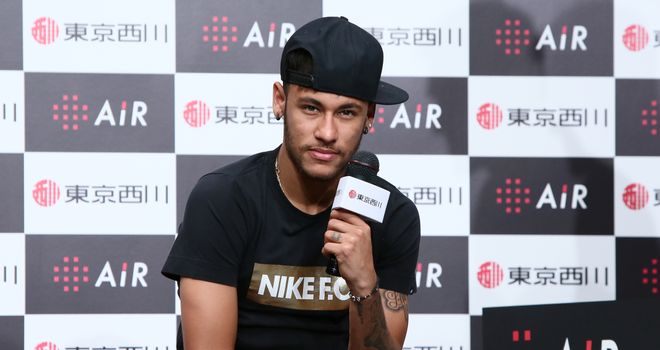 Neymar: In Tokyo for promotional event