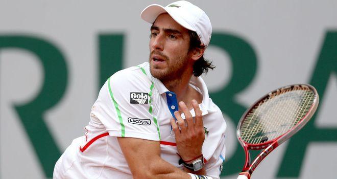 Pablo Cuevas of Uruguay reaches his second consecutive ATP final