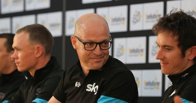 Sir Dave Brailsford at Team Sky's pre-Tour de France press conference in Leeds