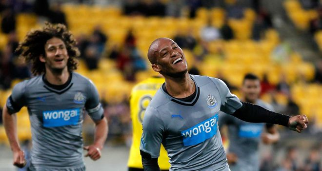 Yoan Gouffran: Celebrates his goal against Wellington Phoenix