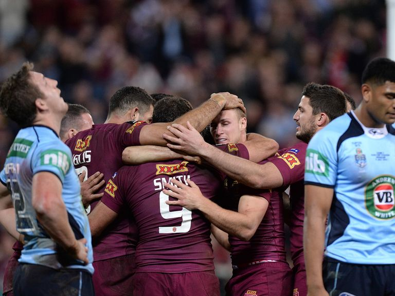 Cameron Smith helped himself to a try as Queensland beat New South Wales