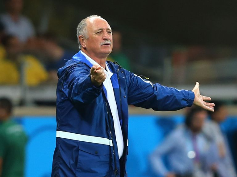 Phil Scolari: Watched his Brazil team fall apart against Germany