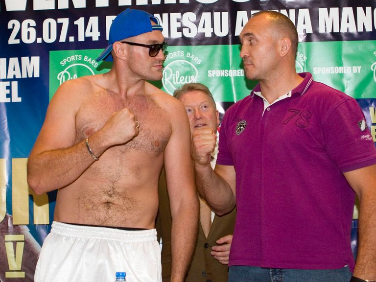 Tyson Fury will face Alexander Ustinov this weekend