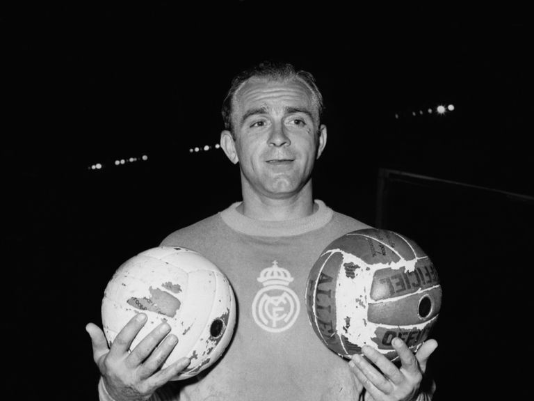 Alfredo Di Stefano pictured in his 1956 heyday