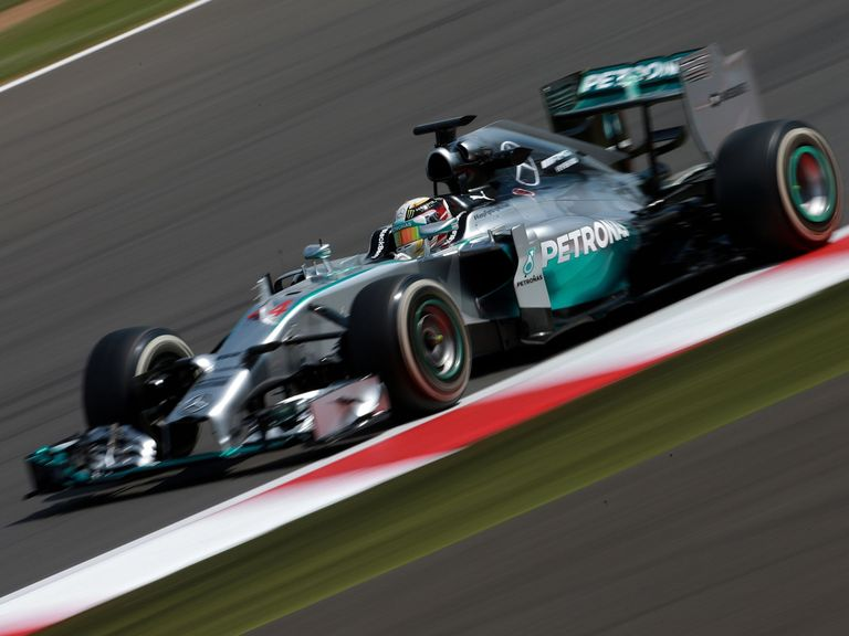 Lewis Hamilton during mid-season testing at Silverstone