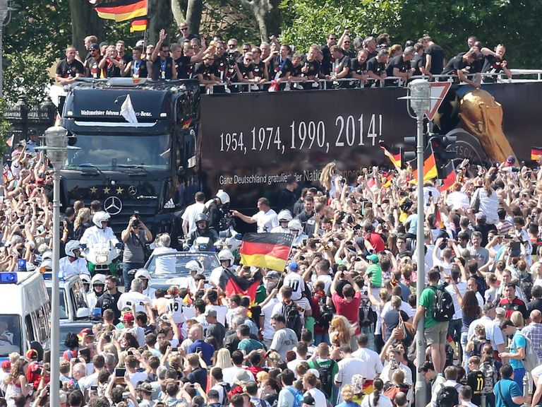Germany have returned home to big crowds