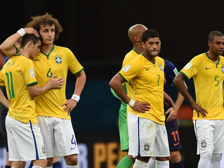 Brazil's players were disappointed again on Saturday night