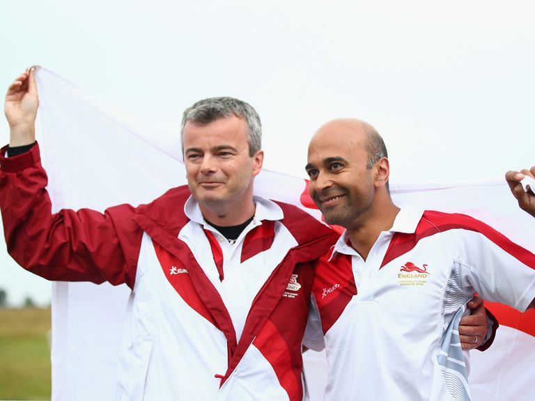 David Luckman (left): Claimed a second gold medal on Tuesday