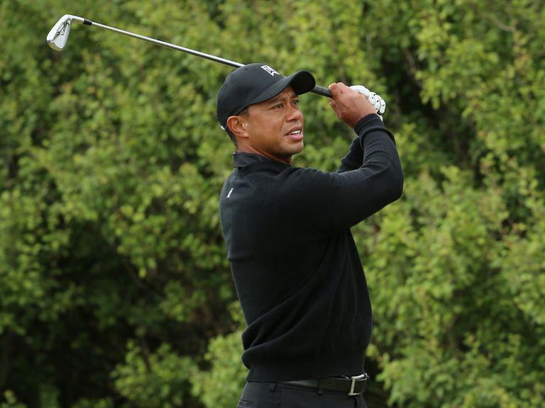 Tiger Woods took to the fairways early on Tuesday at Hoylake
