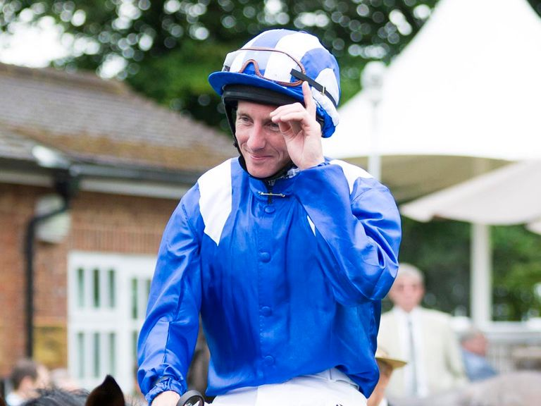 Paul Hanagan on Mukhadram after winning the Coral-Eclipse.