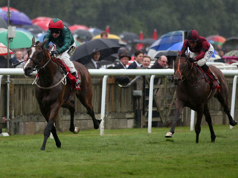 Windshear (right) chases home Hartnell in the Bahrain Trophy