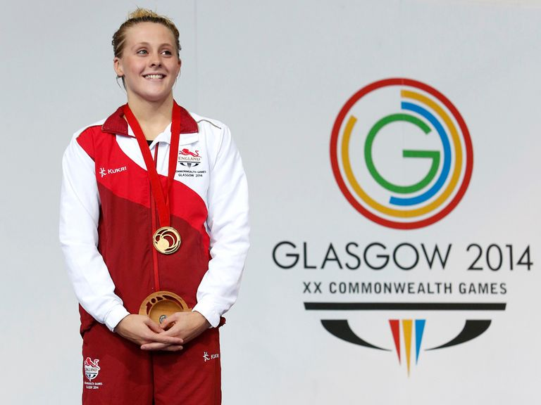 England's Siobhan O'Connor with her gold medal for the 200m individual medley