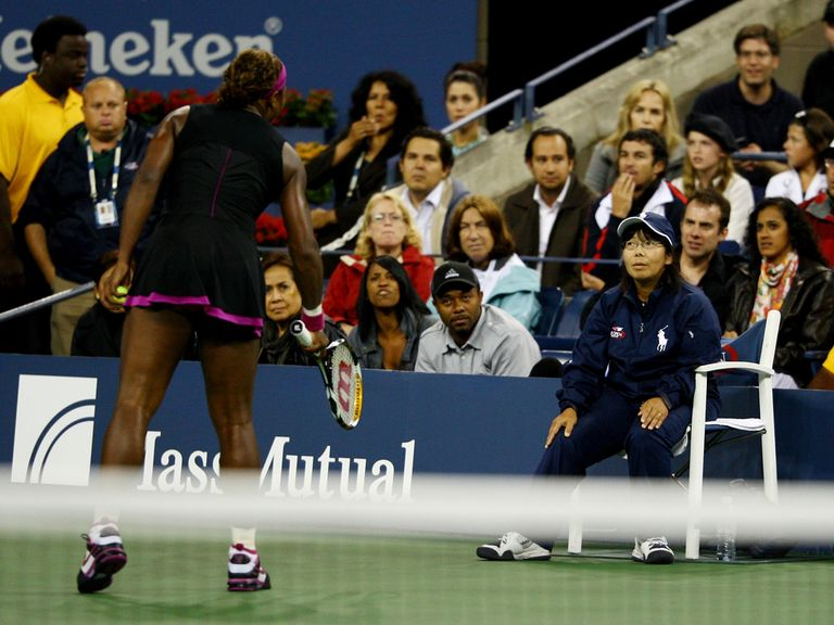 Serena Williams famously clashed with a lineswoman in 2009