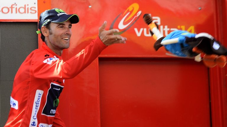 Alejandro Valverde is the new race leader