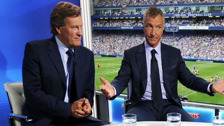 Glenn Hoddle (left) on Super Sunday with Graeme Souness