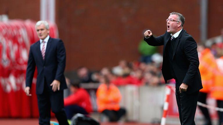 Paul Lambert (R): Unhappy with Southampton boss Ronald Koeman