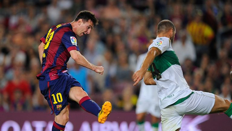 Messi: Fires Barcelona into the lead
