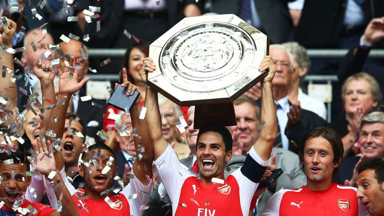 Mikel Arteta: Got his hands on more silverware at Wembley