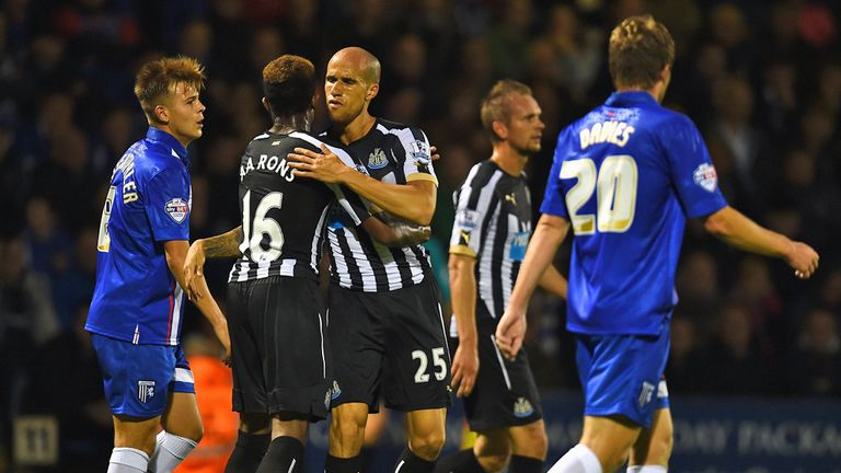 Gabriel Obertan: Celebrates only goal of the game