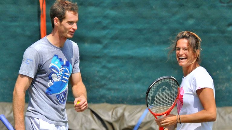 Andy Murray has enjoyed linking up with coach Amelie Mauresmo