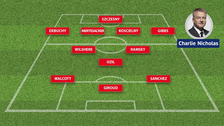 Charlie Nicholas' Arsenal XI for the new season