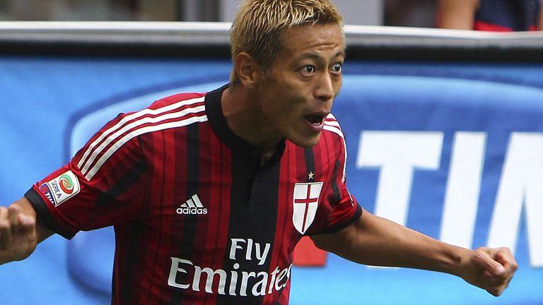 Keisuke Honda scored the opening goal for Milan