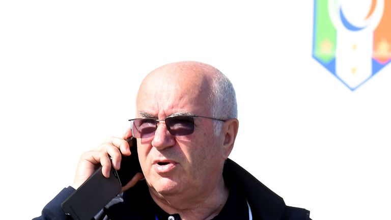 Carlo Tavecchio attends an Italy training session on June 12, 2014 in Rio de Janeiro, Brazil