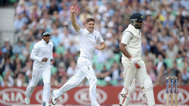 Chris Woakes (C): Returned Test best figures of 3-30 at the Kia Oval