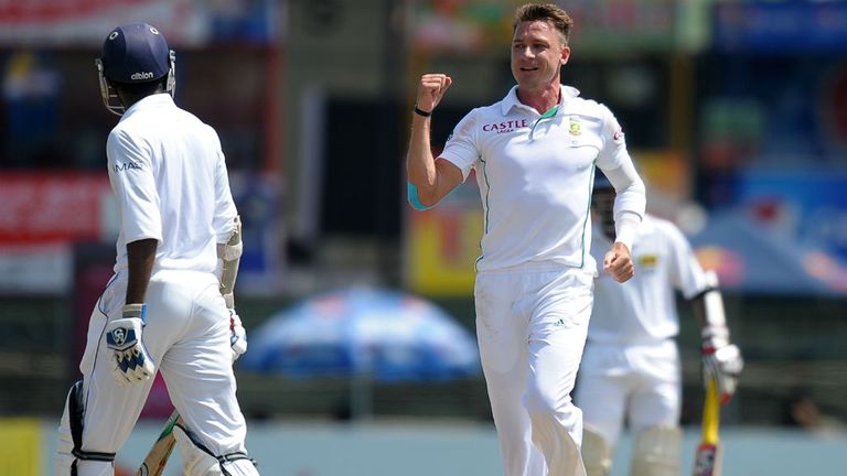 Dale Steyn: Ended on figures of 4-45 after taking the last wicket of the opening day