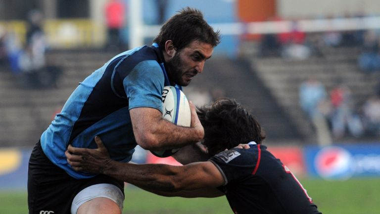 Felipe Berchesi: Scored a try and kicked two penalties for Uruguay against Hong Kong