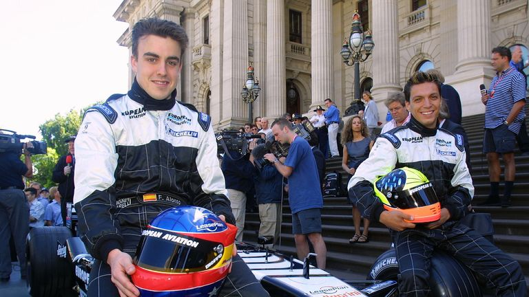 Fernando Alonso was 19 when he made his debut in 2001