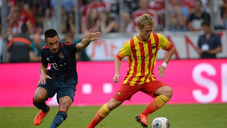 Dani Nieto (r): Joins Eibar after release from Barcelona