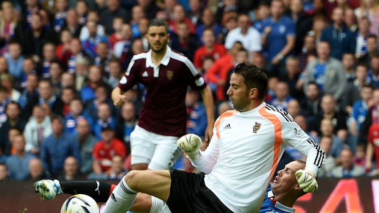 Neil Alexander: Hearts goalkeeper injured during 2-1 win at Rangers