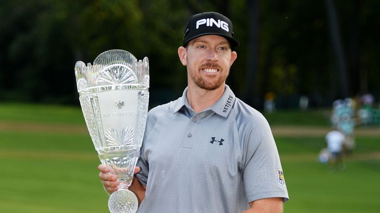 Hunter Mahan clinched his spot with win at The Barclays