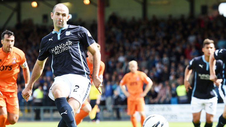 Gary Harkins: Scores from the penalty spot for Dundee