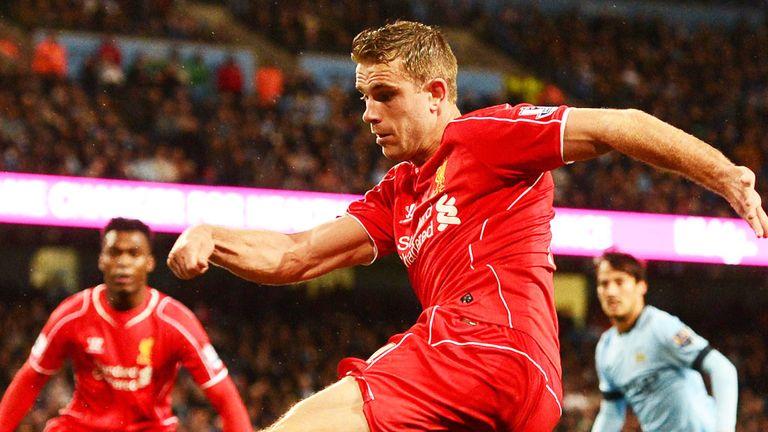 Jordan Henderson: Liverpool midfielder in action against Manchester City