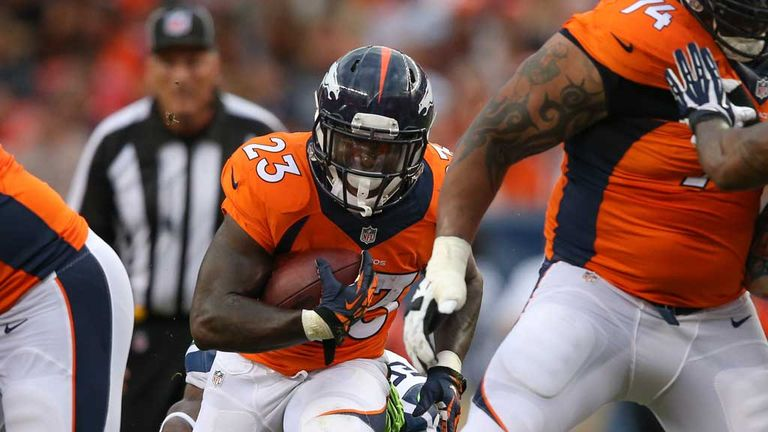 Ronnie Hillman: Rushes for a score for the Denver Broncos