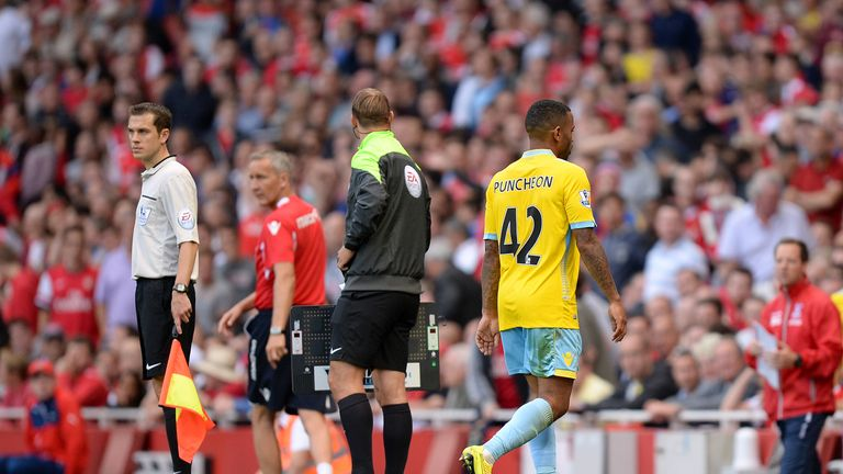 Jason Puncheon: Sent off at Arsenal