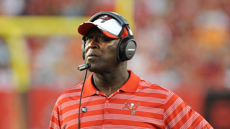 Head coach Lovie Smith has a big job on in Tampa Bay