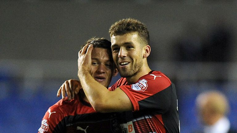 Tommy Smith and Jonathan Hogg: Celebrating Town win