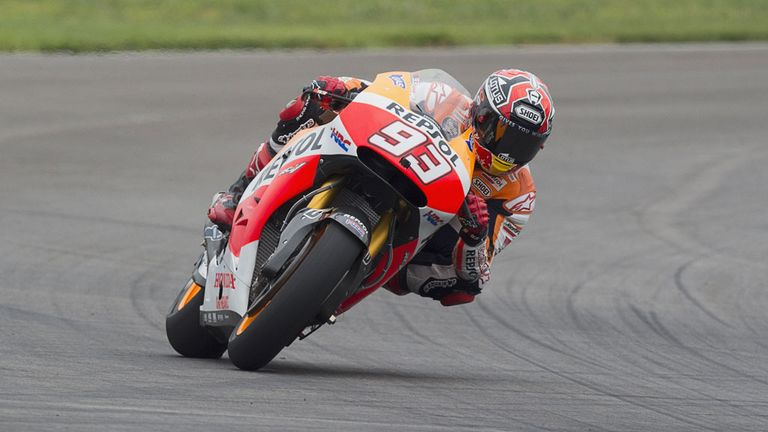 Marc Marquez is on pole ahead of his bid for another Grand Prix victory