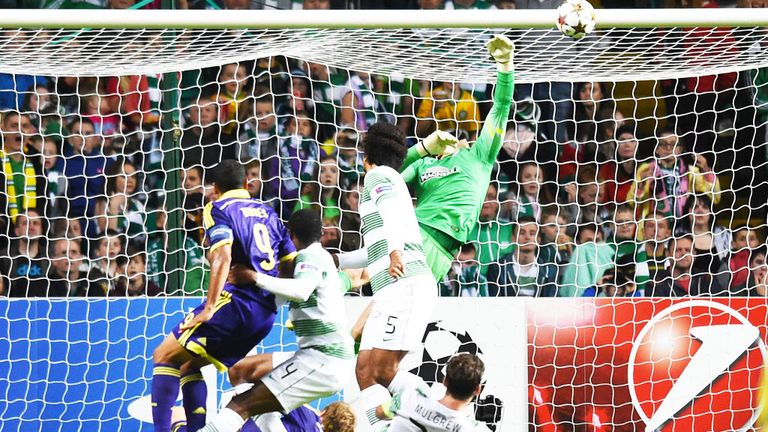 Marcos Tavares: Scores the only goal of the game as NK Maribor beat Celtic