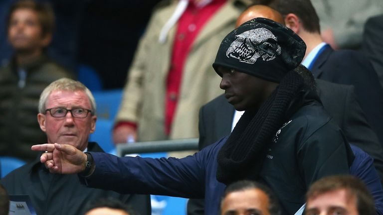Mario Balotelli: Watched from the stands on Monday
