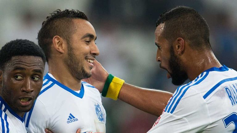 Dimitri Payet (c): On target for Marseille against St Etienne
