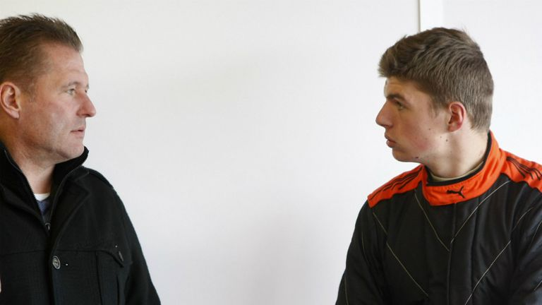 By his side: Max Verstappen with father Jos