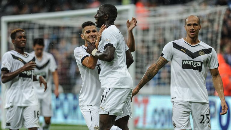 Moussa Sissoko: Celebrates Newcastle's winner against Real Sociedad